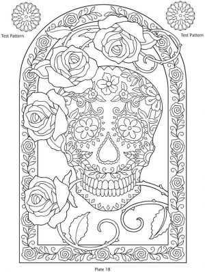 Day of the Dead Coloring Pages – Hard Coloring for Adults – 74613