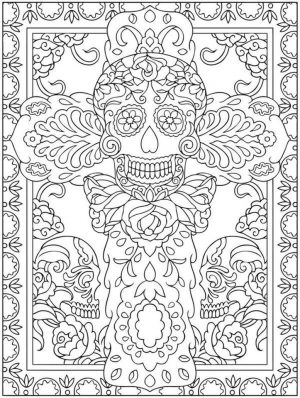 Day of the Dead Coloring Pages – Hard Coloring for Adults – tc3av