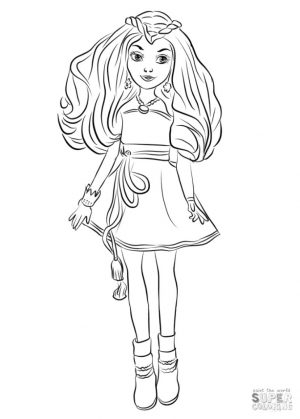 Descendants Coloring Pages for Girls prc8