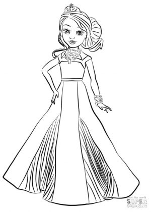 Descendants Coloring Pages for Girls rgl9