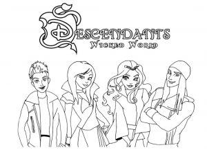Descendants Coloring Pages grp1