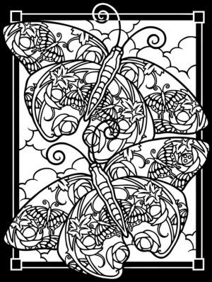 Difficult Butterfly Coloring Pages for Adults – cavv5