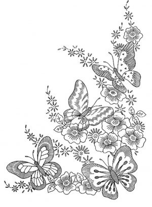 Difficult Butterfly Coloring Pages for Adults – fgt67