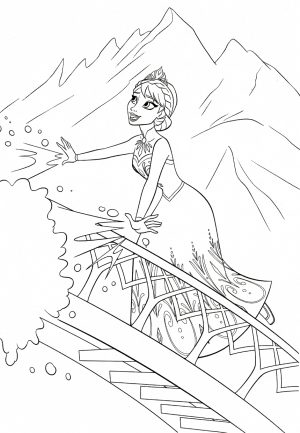 Disney Queen Elsa Coloring Pages Frozen – 09341