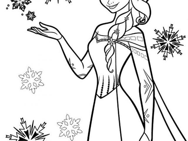 Get This Disney Snow Queen Elsa Coloring Pages - 8CBS2