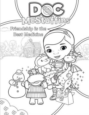 Doc McStuffins Coloring Pages Printable med6