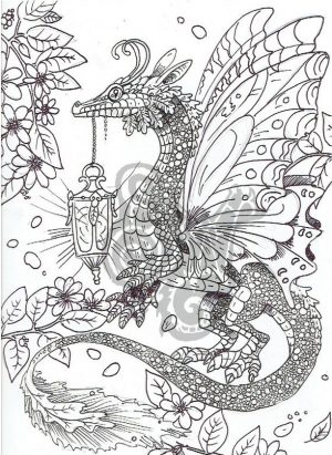 Dragon Coloring Pages for Adults Free Printable – pt7v5