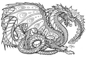 Dragon Coloring Pages for Adults – aa7da