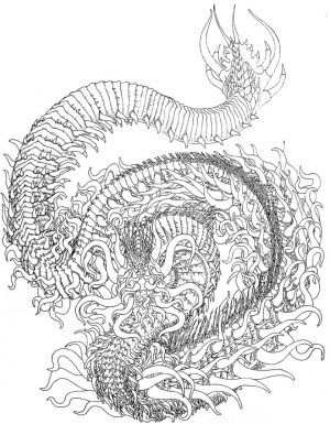Dragon Coloring Pages for Adults to Print – 74099