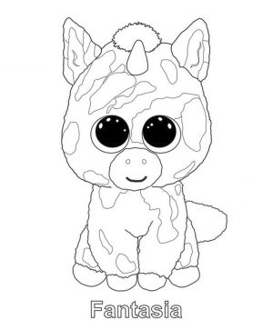 Fantasia Beanie Boo Coloring Pages Free 7oar