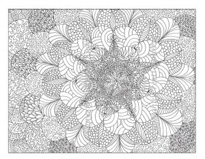 Flower Design Coloring Pages – 35647