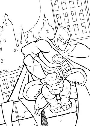 Free Printable Batman Coloring Pages DC Superhero – 45193