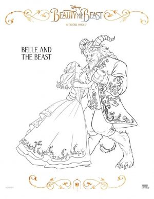 Beauty and the Beast 2017 Coloring Pages