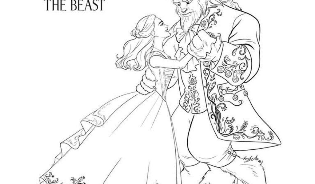 Get this free printable beauty and the beast 2017 coloring for Beauty and the beast free coloring pages
