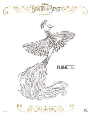 Free Printable Beauty and The Beast 2017 Coloring Pages Plumette