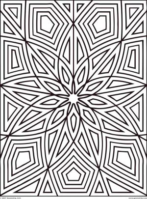 Geometric Design Coloring Pages – 89591