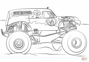 Grave Digger Monster Truck Coloring Pages free to print