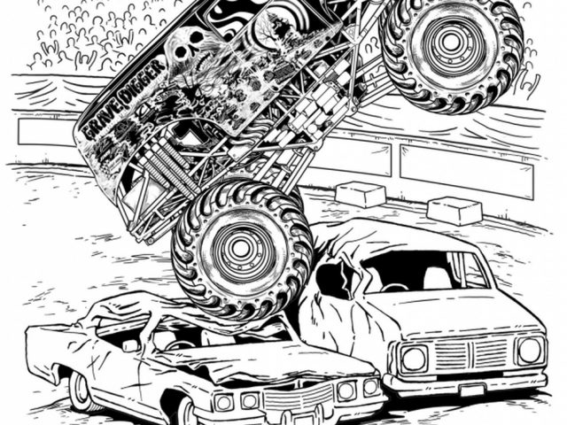 Monster truck grave digger coloring pages ~ Get This Grave Digger Monster Truck Coloring Pages