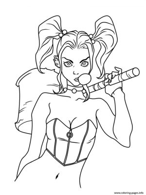 Harley Quinn Coloring Pages Online 3bul