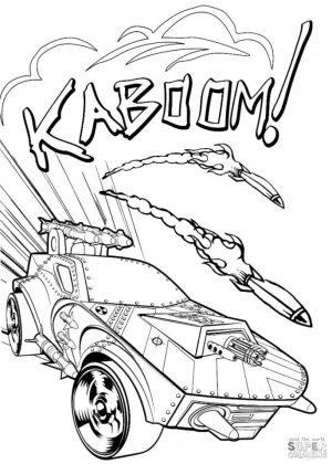 Hot Wheels Coloring Pages 4bom