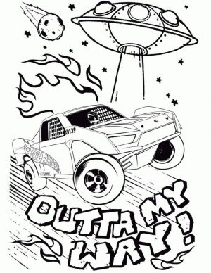 Hot Wheels Coloring Pages Free for Kids 9ufo