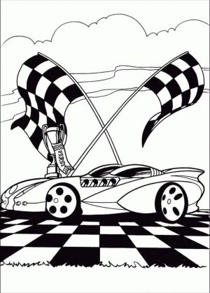 Hot Wheels Coloring Pages Race Car to Print 3ckr