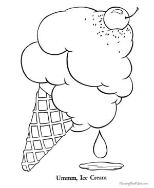 Ice Cream Coloring Pages Free for Kids 379s