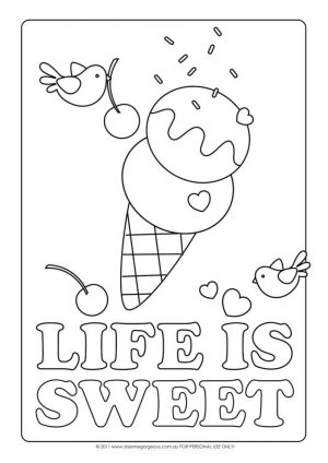 Ice Cream Coloring Pages Free for Kids 628f