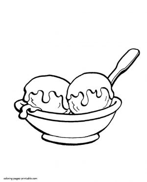 Ice Cream Coloring Pages Printable 522s