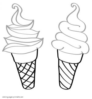 Ice Cream Coloring Pages Printable 721q