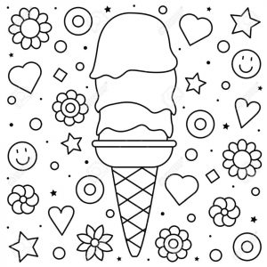 Ice Cream Coloring Pages for Toddlers 115r