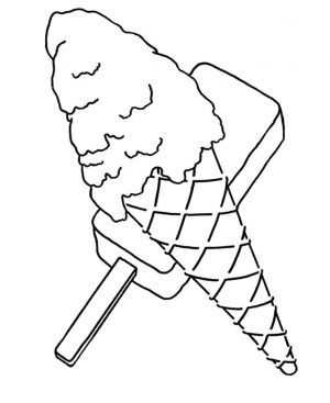Ice Cream Coloring Pages to Print 830d