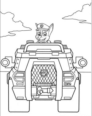 Kids Printable Paw Patrol Coloring Pages Chase – 67391