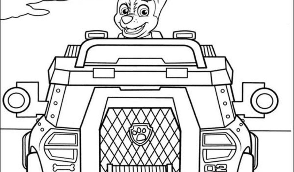 Paw Patrol Printable Coloring Pages Chase 155 best childrens