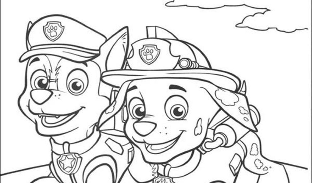Coloring Pages Printable Paw Patrol Get This Kids Chase And