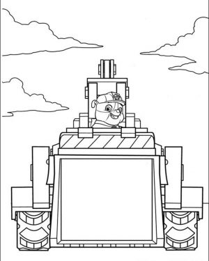 Kids Printable Paw Patrol Coloring Pages Rubble and His Tractor – 62810