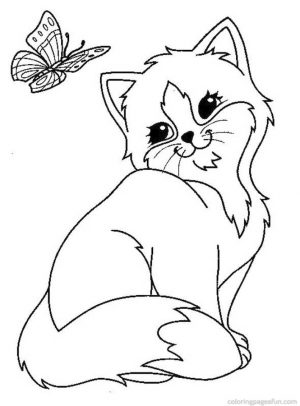 Kitten Coloring Pages Kids Printable – 8gh9 – new