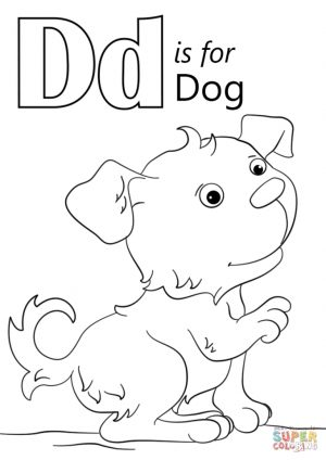 Letter D Coloring Pages Dog – uml61