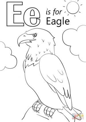 Letter E Coloring Pages Eagle – jdh3m