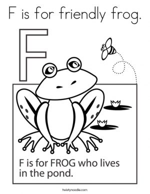 Letter F Coloring Pages Frog – krm5a
