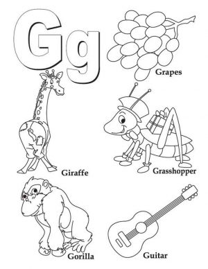 Letter G Coloring Pages – y3bal