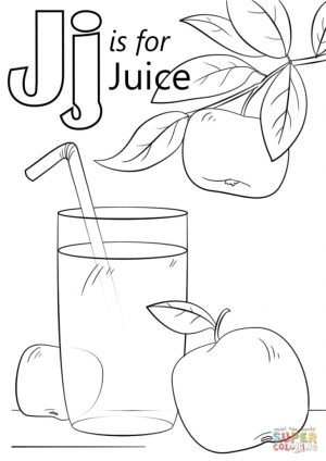 Letter J Coloring Pages Juice – j4nml