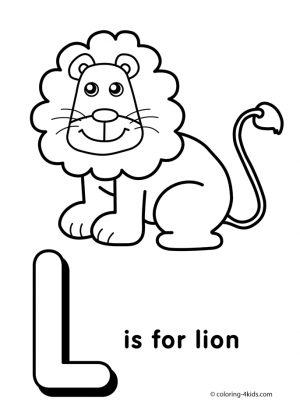 Letter L Coloring Pages Lion – u4l1