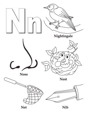 Letter N Coloring Pages – n38nc