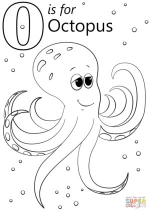 Letter O Coloring Pages Octopus – y4m11