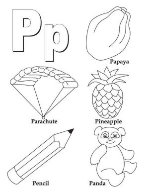Letter P Coloring Pages – pl4ma