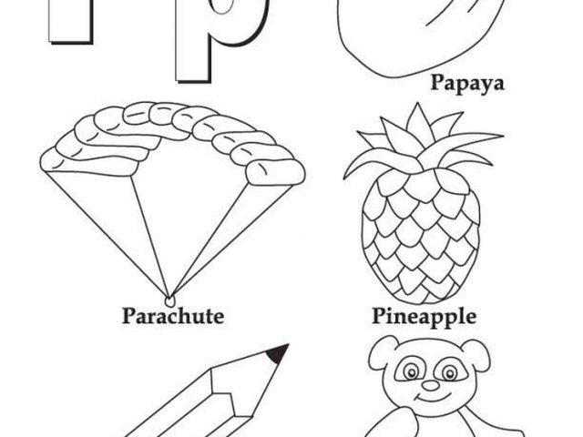 Get This Letter P Coloring Pages