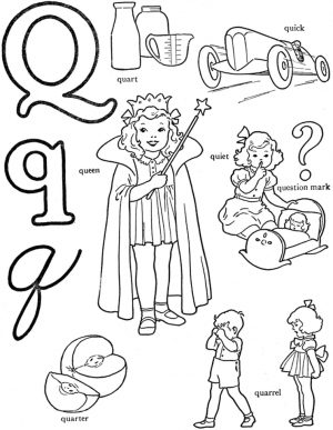Letter Q Coloring Pages – lrpq4