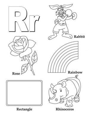 Letter R Coloring Pages – r2t19