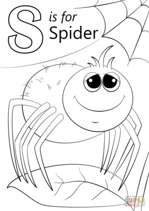 Letter S Coloring Pages Spider – slp4n